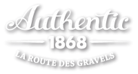 Authentic 1868 logo blanc